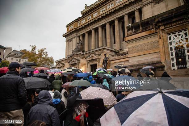 Thousands attend to pay their respects for the victims of the Tree of Life synagogue at the Soldier and Sailors Memorial in Oakland In Pittsburgh...