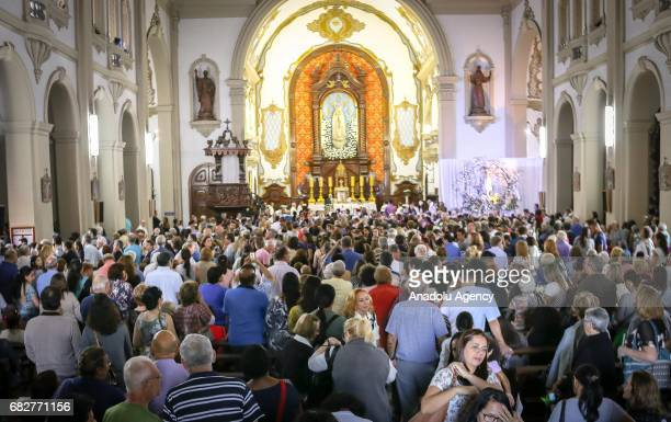 Thousands celebrate the Our Lady of Fatima at the Our Lady of Fatima Church in Sao Paulo Brazil on May 13 2017