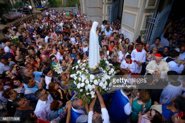 Thousands celebrate the Our Lady of Fatima in Sao Paulo Brazil on May 13 2017