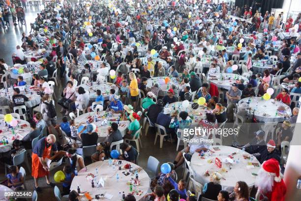 thousands enjoy Auckland City Mission Xmas lunch at the Viaduct Events Center Auckland on Dec 25 2017 Since 1920 the Auckland City Mission has been...