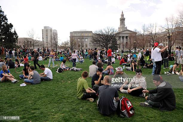 420POTRALLY_KSO_4_20_09083 Thousands gather at Civic Center Park in Denver for the annual 420 Pot Rally where hiphop music blared from the stage and...