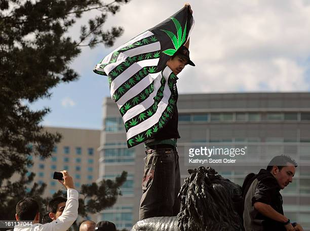 420POTRALLY_KSO_4_20_09050 Thousands gather at Civic Center Park in Denver for the annual 420 Pot Rally where hiphop music blared from the stage and...