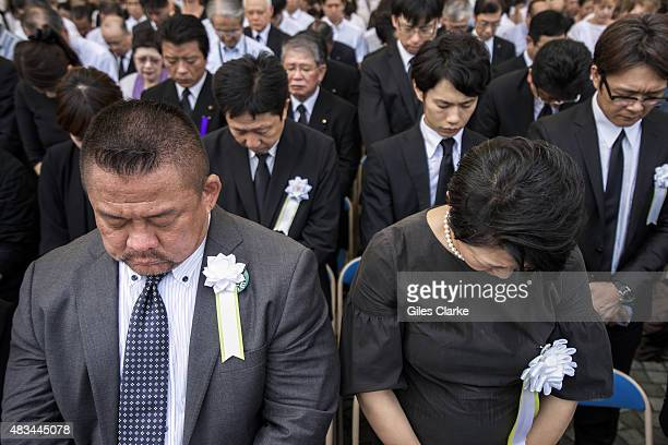 Thousands gather for the 70th Nagasaki Peace Ceremony that took place on the morning of August 9th 2015 to commemorate the 70th year since the atomic...