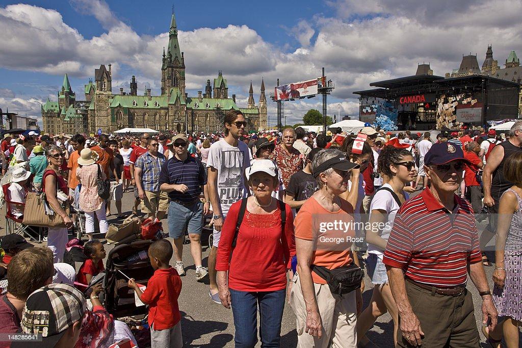 Ottawa Celebrates Canada Day : News Photo