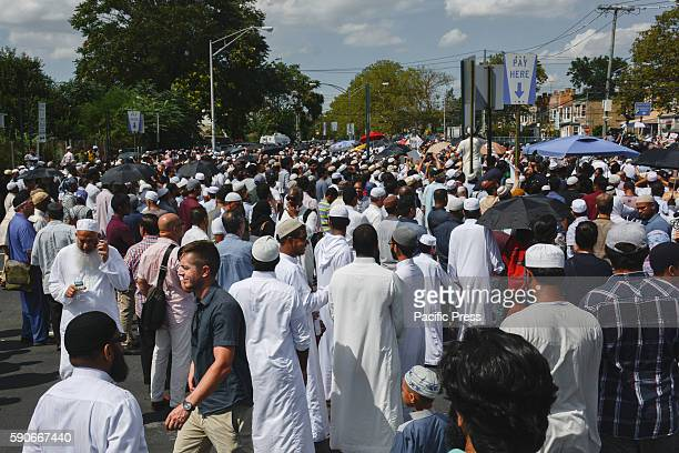 Thousands gather to mourn slain Imam and his assistant after they were shot and killed from behind as they walked down the sidewalk in broad daylight...