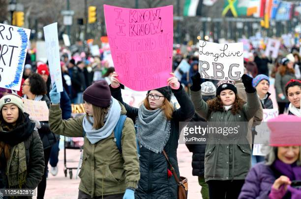 Thousands gathered in Center City Philadelphia PA to partake in protests during the third annual Women's March on January 19 and in similar events...
