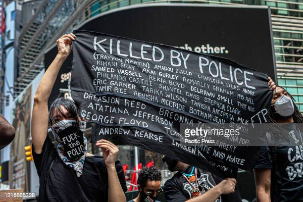 Thousands gathered in New York's Times Square for a demonstration organized by Black Lives Matter Greater New York The group announced their plan to...