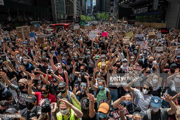 Thousands gathered in New York's Times Square for a demonstration organized by Black Lives Matter Greater New York. The group announced their plan to...