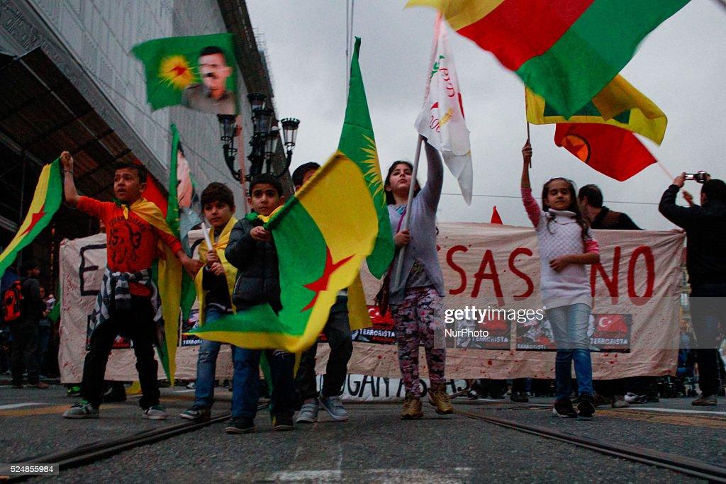 Demonstration against Turikish president Erdogan : News Photo