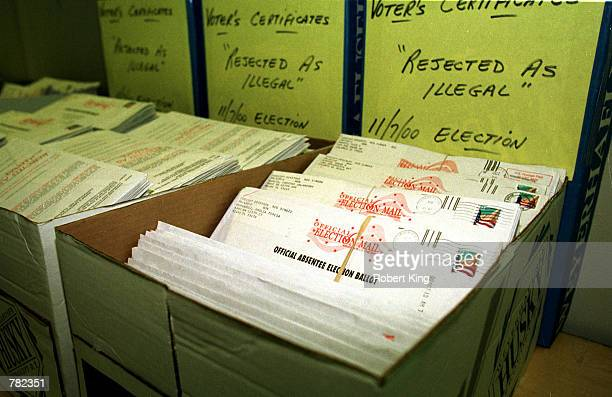 Thousands of Absentee Ballots considered to be illegal are archived in alphabetical order with thousands of other illegal Absentee Ballots and stored...