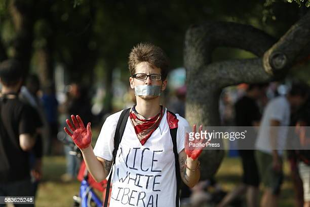 Thousands of activists filled downtown Philadelphia FDR Park to protest on behalf of environmental issues economic fairness racial equality against...