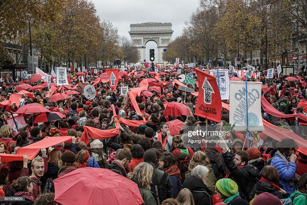 Activists Rally During COP21 In Paris : News Photo