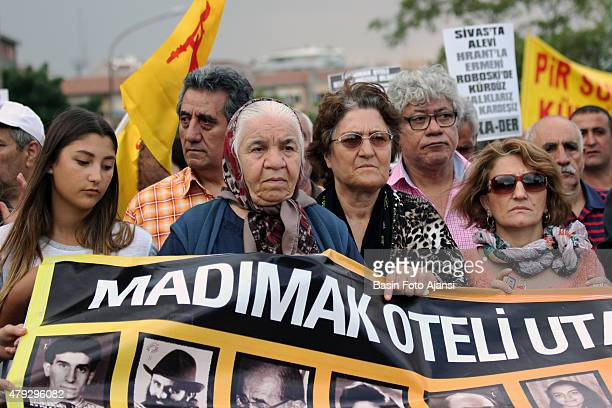 Thousands of Alevis gathered for the commemoration in Ankara to mark the 22nd anniversary of an arson attack in which 33 people were killed at the...