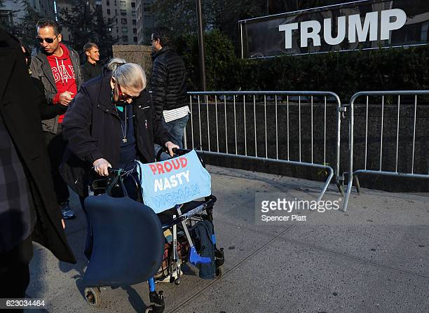 Thousands of antiDonald Trump protesters including many proimmigrant groups hold a demonstration outside of a Trump property as New Yorkers react to...