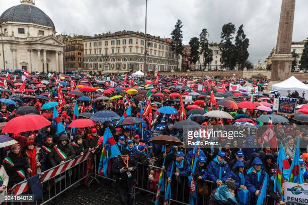 Thousands of anti-fascist protesters took to the streets, during a demonstration organised by the National Association of Italian Partisans , to...