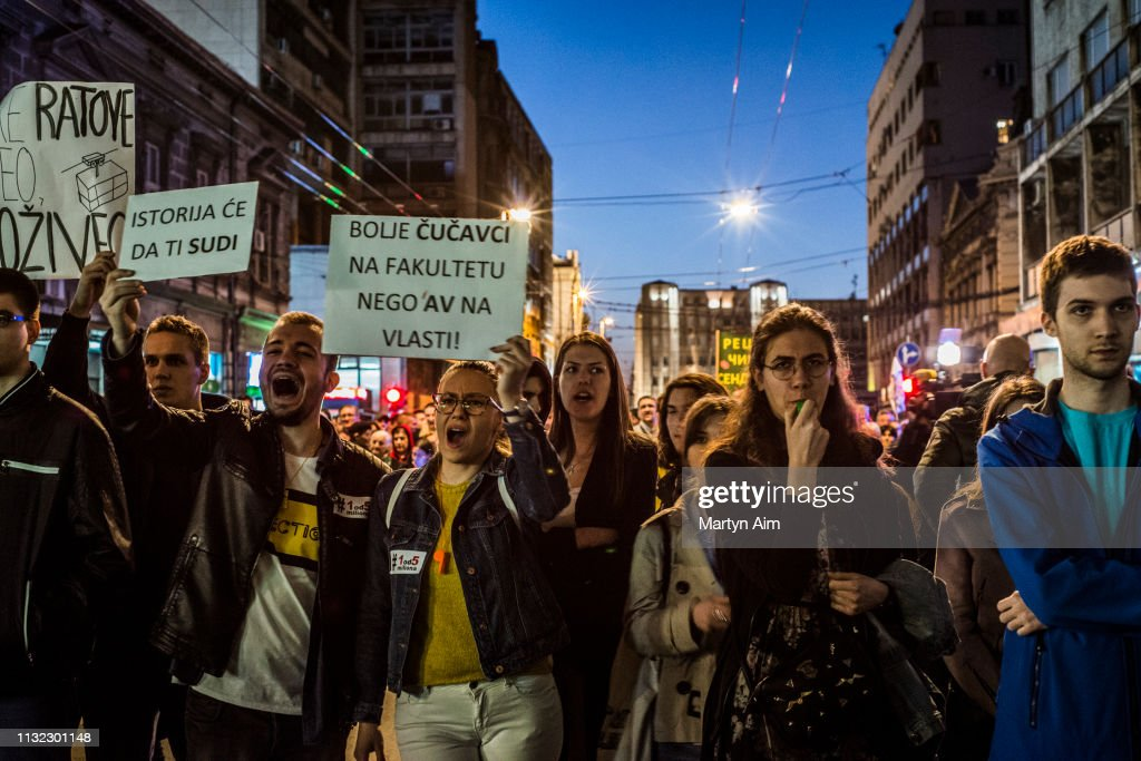 SRB: Protests Against President Vucic Continue Across Serbia