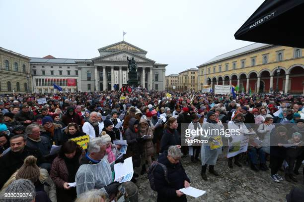 Thousands of antiracist protestors gathered under the motto of 'Die Ärzte kommen' 'The doctors come' They protested against Pegida Dresden that...