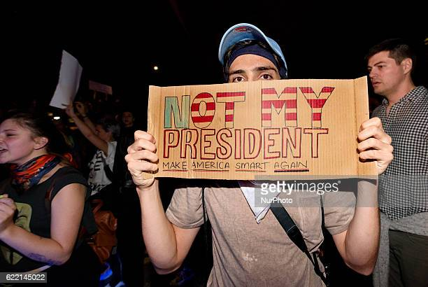 Thousands of antiTrump protesters marched through the streets of Los Angeles California on November 92016 Angry over the election of Donald Trump to...