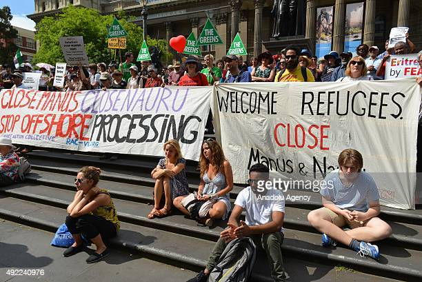 Thousands of Australians join a rally organized by the Refugee Action Coalition calling for the closure of the Manus and Nauru detention centres and...