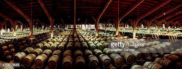 Thousands of barrels in the Real Tesoro Bodega in Jerez de la Frontera, Spain