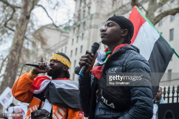 Thousands of British Sudanese protestors descend on Whitehall for a rally to demand that the UK government takes action over human rights abuses by...