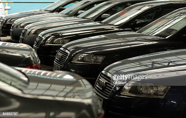 Thousands of cars on sale are displayed at Cargiant the world's largest car supermarket in White City on February 18 2009 in London The Cargiant site...
