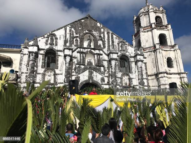 Thousands of Catholic devotees flocked to Daraga Church to celebrate 'Palm Sunday' which marks the start of Holy Week lenten celebration in the...