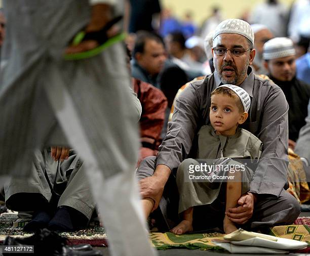 Thousands of Charlottearea Muslims gathered to mark the end of Ramadan on Friday July 17 2015 with prayer and greetings of 'Eid Mubarak' which is...