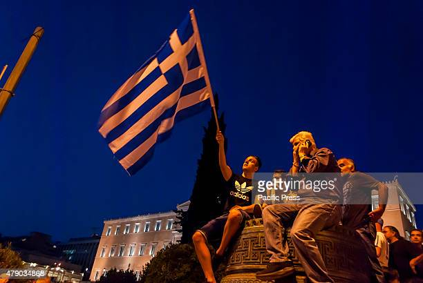 PARLIAMENT ATHENS ATTIKA GREECE Thousands of citizens gathered today in front of the Greek parliament and around the Syntagma square to support NO to...