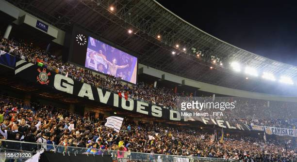 Thousands of Corinthian fans celebrate victory after the FIFA Club World Cup Final Match between Corinthians and Chelsea at International Stadium...