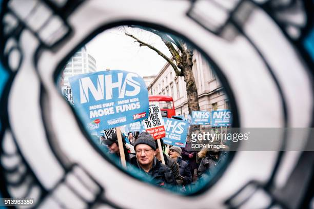 Thousands of demonstrators amassed in London on Saturday to garner support for higher NHS funding as the worst winter on record takes a toll on the...