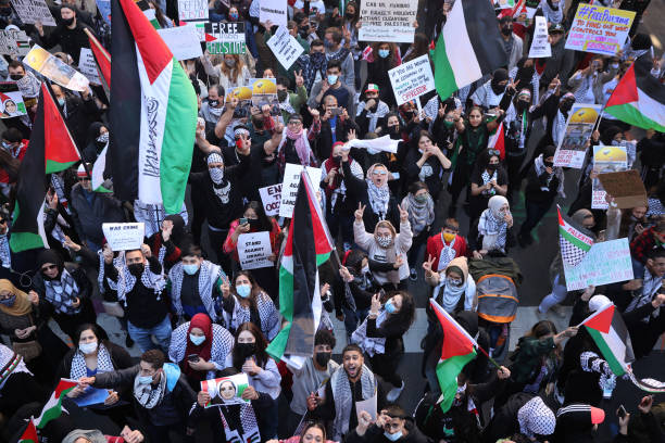 IL: Palestinian Organizations Protest Against Israel In Chicago