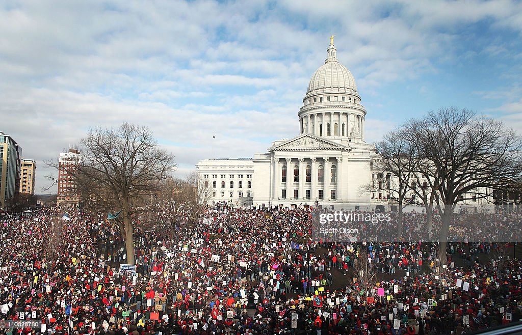Thousands Of Demonstrators Protest Recent Passage Of Controversial Budget Bill : News Photo