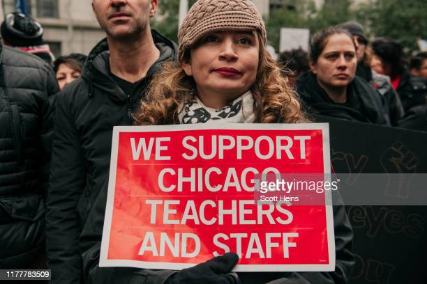 Thousands of demonstrators took to the streets of Downtown Chicago stopping traffic and circling City Hall in a show support for the ongoing teachers...