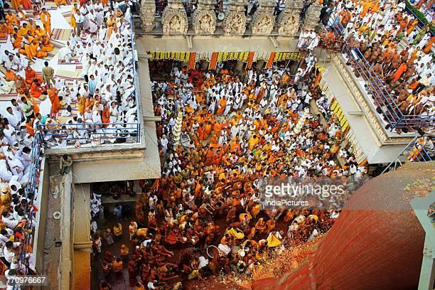 Thousands of devotees gathered to witness Mahamastakabhisheka Festival held once every 12 years when the huge monolithic statue of Lord Gomateshwara...