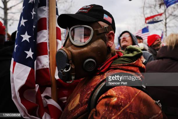"""Thousands of Donald Trump supporters storm the United States Capitol building following a """"Stop the Steal"""" rally on January 06, 2021 in Washington,..."""