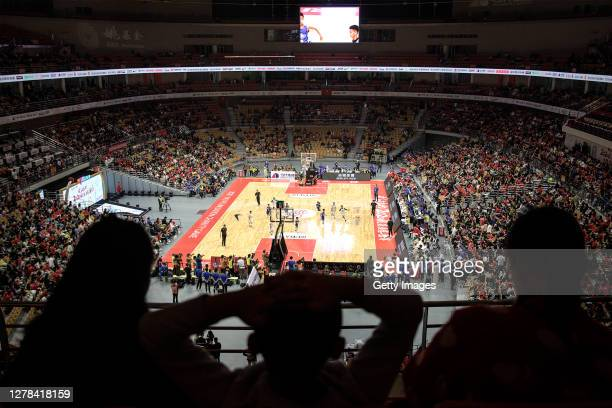 Thousands of fans during 2020 Yao Foundation Charity tournament on October 4, 2020 in Wuhan, Hubei province, China.The tournament pits a Chinese...