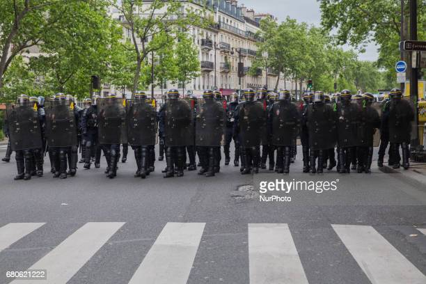 Thousands of French people gather for the first social mobilization organised by quotFront Socialquot one day after the election of the new French...
