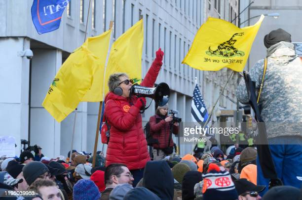 Thousands of gun owners rallied outside of the capitol in Richmond Virginia US on 20 January 2020 to protest new legislation as the Democratic Party...