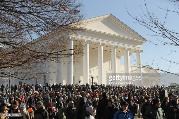 Thousands of gun rights advocates attend a rally organized by The Virginia Citizens Defense League on Capitol Square at the State Capitol building...