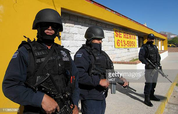 Thousands of heavily armed federal police patrol Ciudad Juarez Mexico to keep narcotics cartels at bay April 8 2010