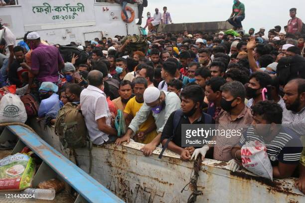Thousands of home bound people ignoring government's directive not to leave Dhaka before Eid to prevent Covid19 from being spread