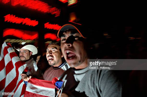 Thousands of immigrants demonstrate on May 1 2006 in Las Vegas Nevada The demonstration called The Great American Boycott 2006 A Day Without An...