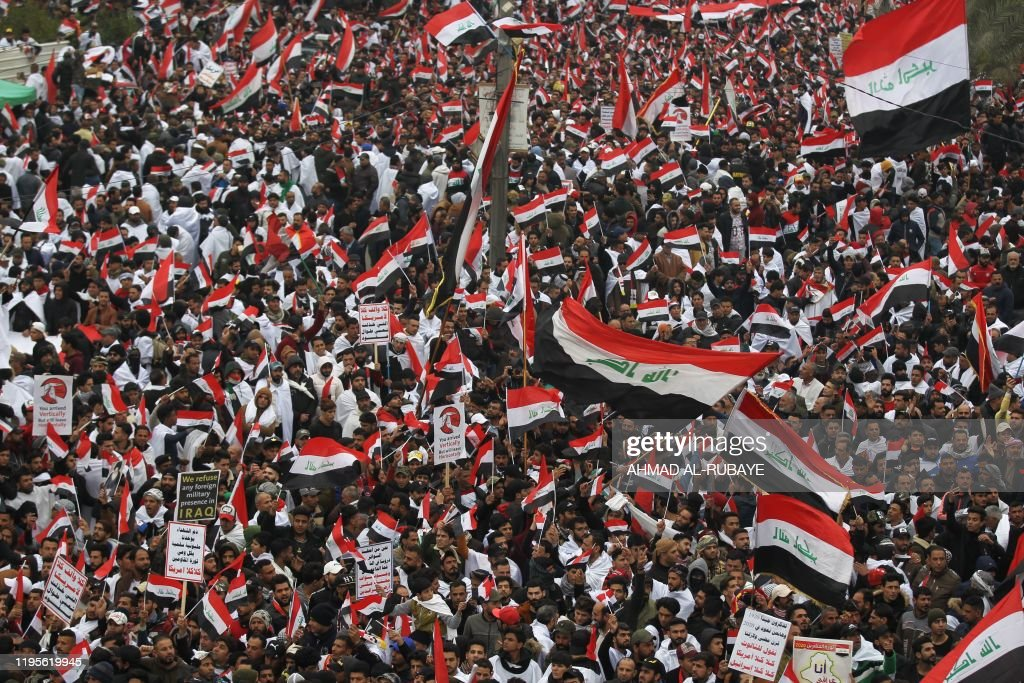 TOPSHOT-IRAQ-US-POLITICS-PROTEST : News Photo