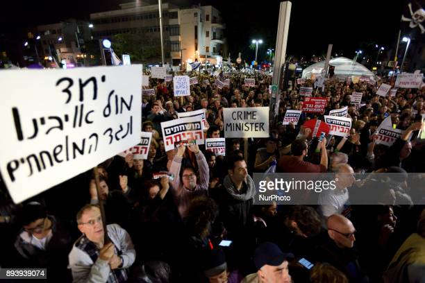Thousands of Israelis protested against goverment corruption in TelAviv calling for Prime Minister Netanyahu resignation over alleged corruption at...
