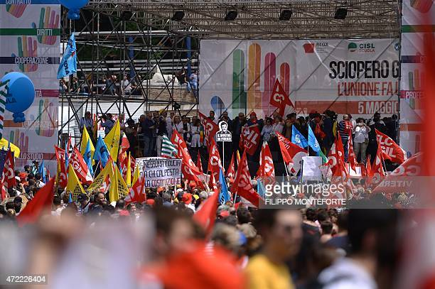 Thousands of Italian teachers and administrators take part in a demonstration organized by the unions of USB UNICOBAS and ANIEF to protest against...