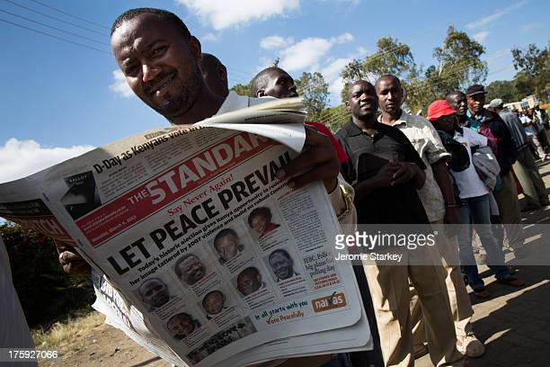 Thousands of Kenyan voters queued from before dawn to vote in the 2013 general election, March 4, 2013. Many complained at being made to wait hours...