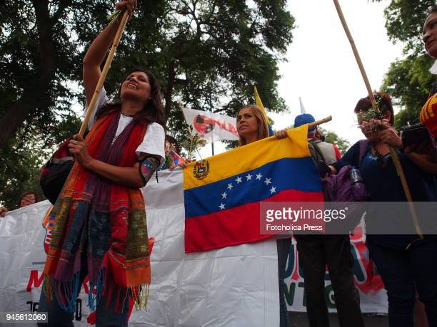 Thousands of Latin American left wing activists conducted an antiimperialist march against the Americas summit in Lima