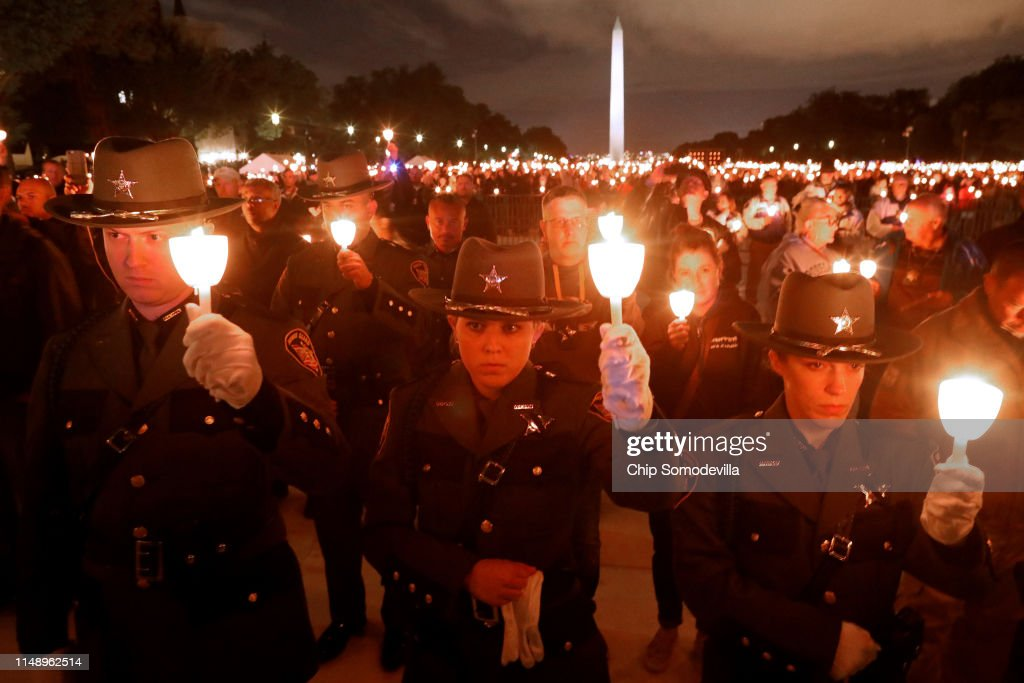Attorney General Barr Delivers Remarks At National Law Enforcement Officers' Annual Candlelight Vigil On The National Mall : News Photo