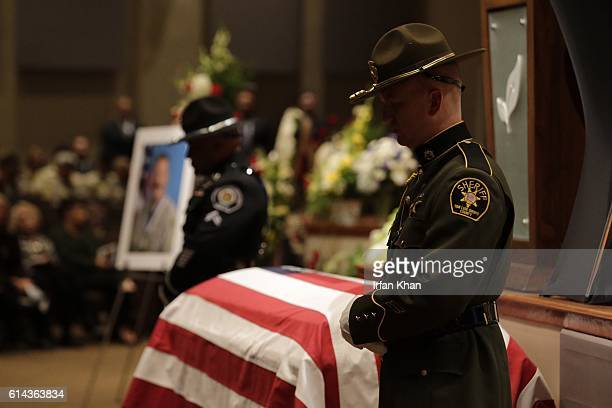Thousands of law enforcement officials and members of the community gathered for the funeral for slain Los Angeles County Sheriff's Sgt Steve Owen at...